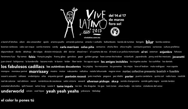 Cartel Horarios Vive Latino Horarios Vive Latino 2013 el